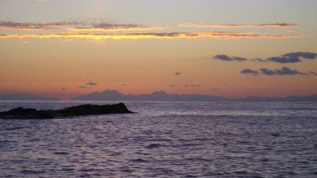 Golfo di Baratti Tramonto in autunno