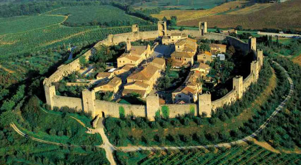 Monteriggioni - via Francigena