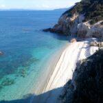 Spiaggia di sabbia bianca all'isola d'Elba